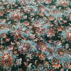 Green Floral Axminster – 3.90m x 3.66m (14.25m2)