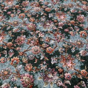 Dark Green Floral Axminster – 3.80m x 3.66m (13.90m2)