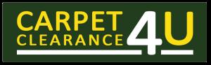 Carpet Clearance 4u Yellow Text Logo